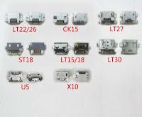konektor charge/ plugin charge sony xperia
