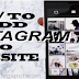 Add Instagram to Your Website