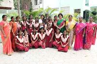 Actress Priya Anand in T Shirt with Students of Shiksha Movement Events 02.jpg