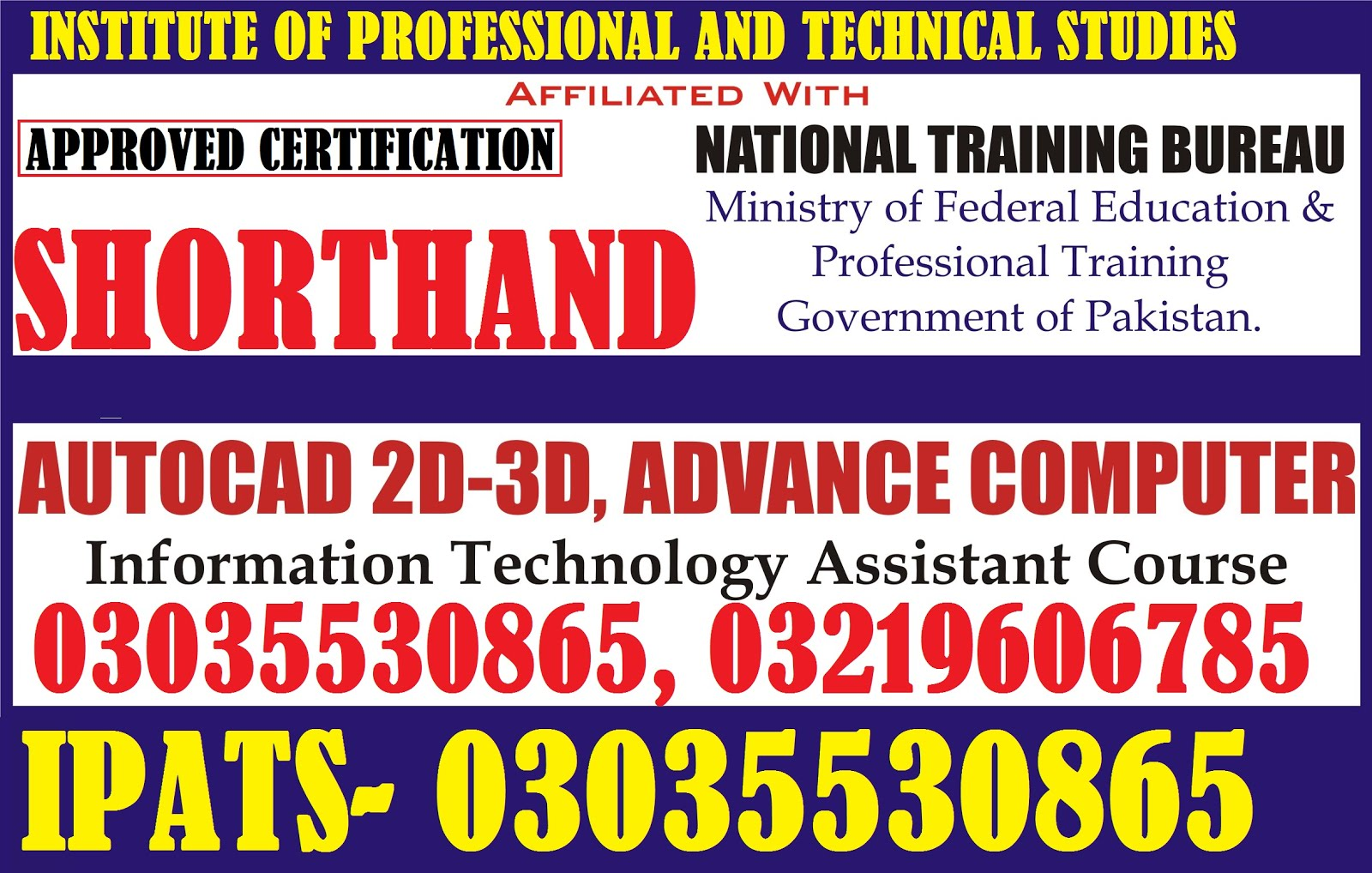 SHORTHAND/STENO GHRAPHER COURSE IN LAHORE ISB923035530865