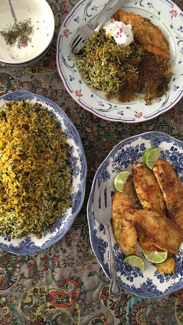 Iranian Herbed Rice with Fish