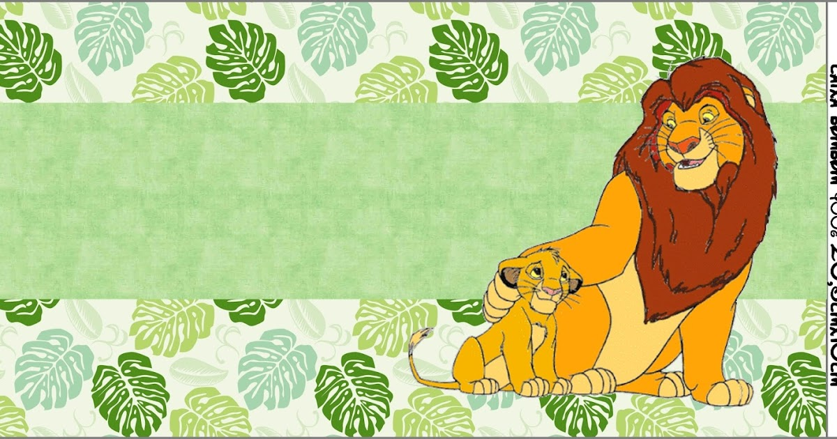 lion king  free printable candy bar labels