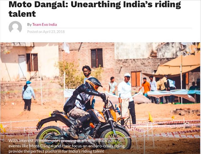 Moto Dagal Featured on EVO India Magazine