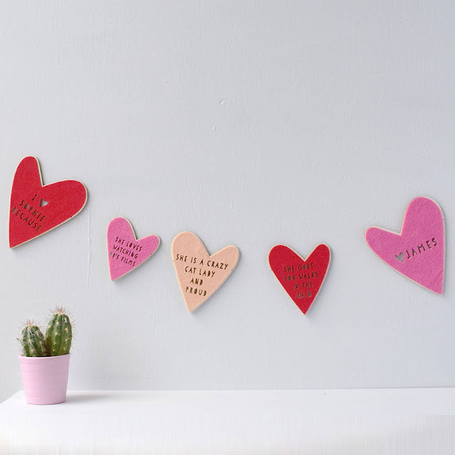 Heart shaped bunting