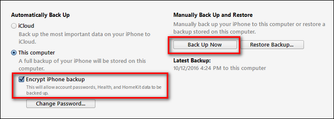 Criptare il backup dell'iPhone su iTunes