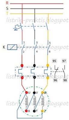 Rangkaian dol motor listrik 3 fasa listrik praktis rangkaian daya dol delta ccuart Choice Image