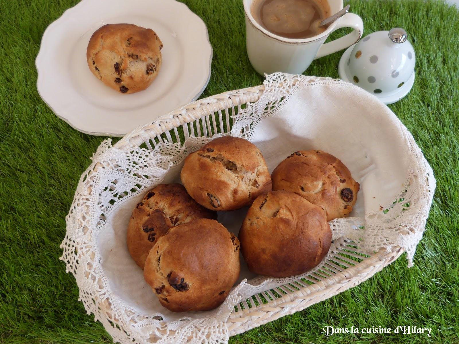 Petites brioches à la cannelle et raisins secs