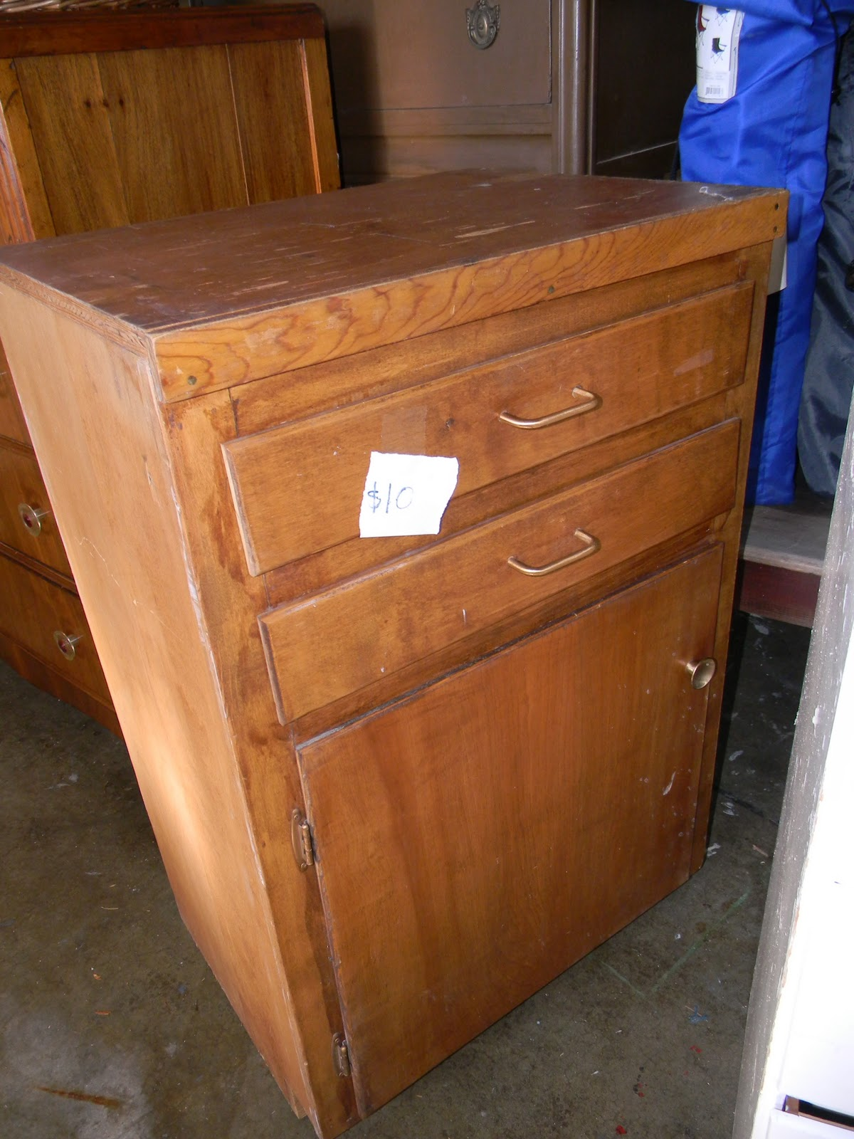 Emily S Up Cycled Furniture Tall Blue Grey Distressed Dresser: Emily's Up-cycled Furniture: Burlap Harvest Cabinet
