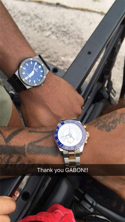 Photos: Davido spends quality time with Gabon girls ;)