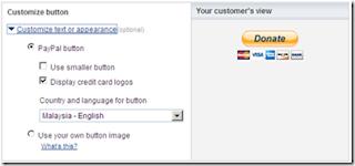 Configuración botón donación Paypal