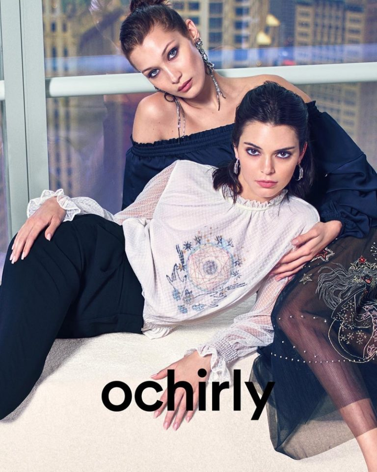Bella Hadid & Kendall Jenner for Ochirly Fall/Winter 2018