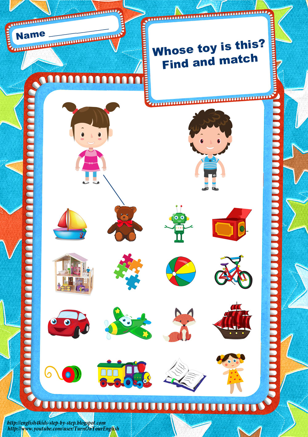 Toy Vocabulary Game : Toys song for children
