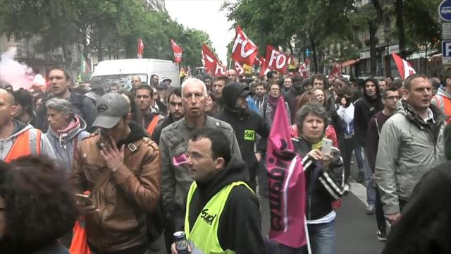 Sindicatos en Francia realizan huelgas contra reforma ferrocarril