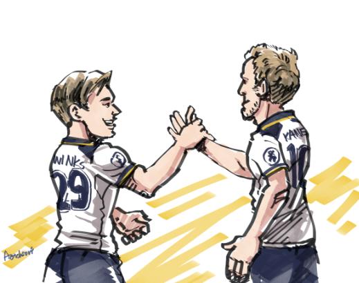 Harry Winks and Harry Kane