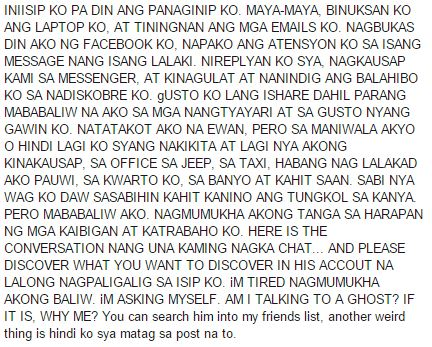 A horrifying story of a dead man who seeks for help on Facebook! MUST READ!