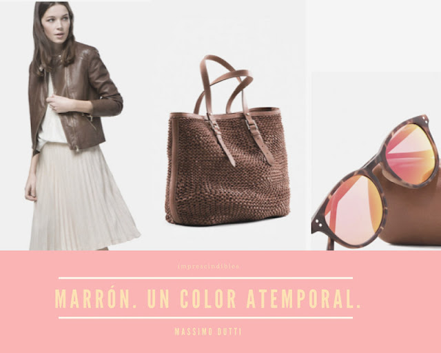 crea look con el marron como color principal
