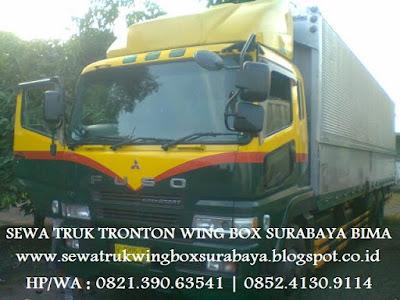 SEWA CARTER TRUK TRONTON WING BOX SURABAYA BIMA PLAMPANG DOMPU SAPE TALIWANG SUMBAWA BESAR