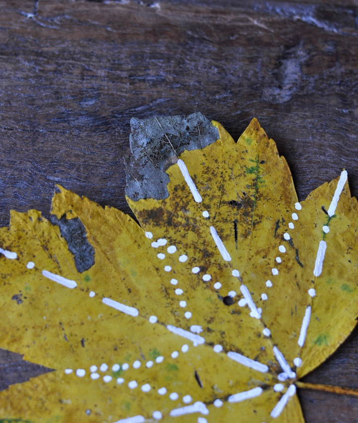 fast and easy #diy for #fall: #painted #leafs