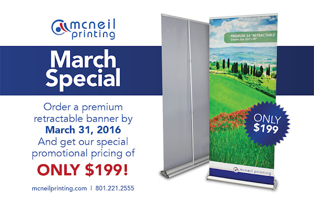 March 2016 Special on Retractable Banners
