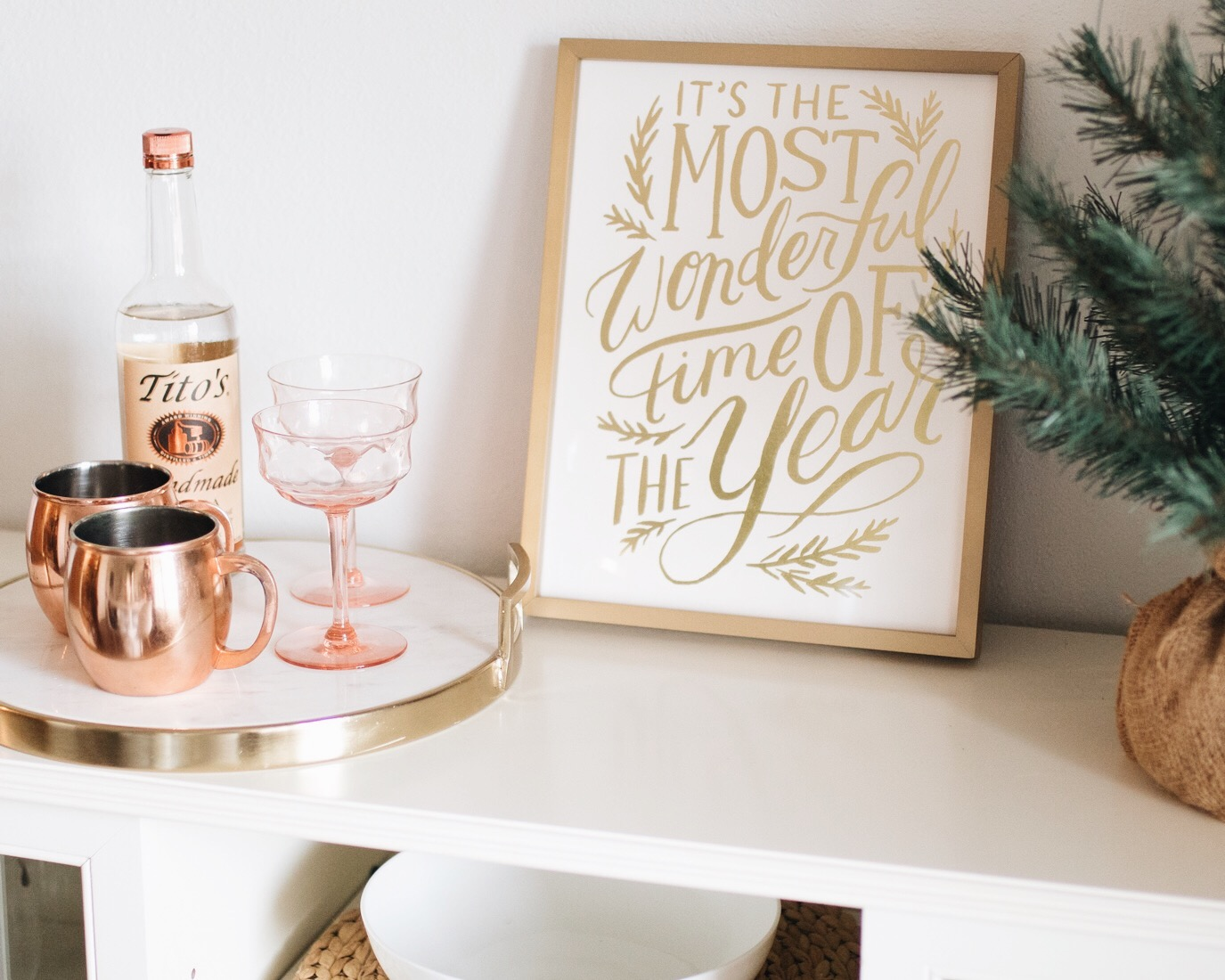 holiday gold foil print from Minted