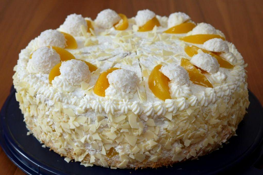 Pfirsich-Raffaello-Torte | Backen | Kuchen | Torte