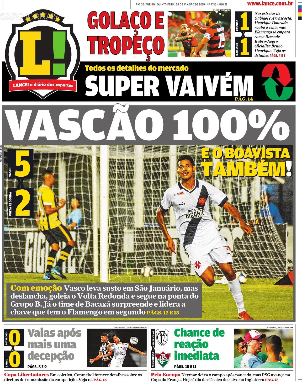 993477a5e1 Jornal do Brasil - O Vasco chegou a dar um susto em sua torcida nesta  quarta-feira
