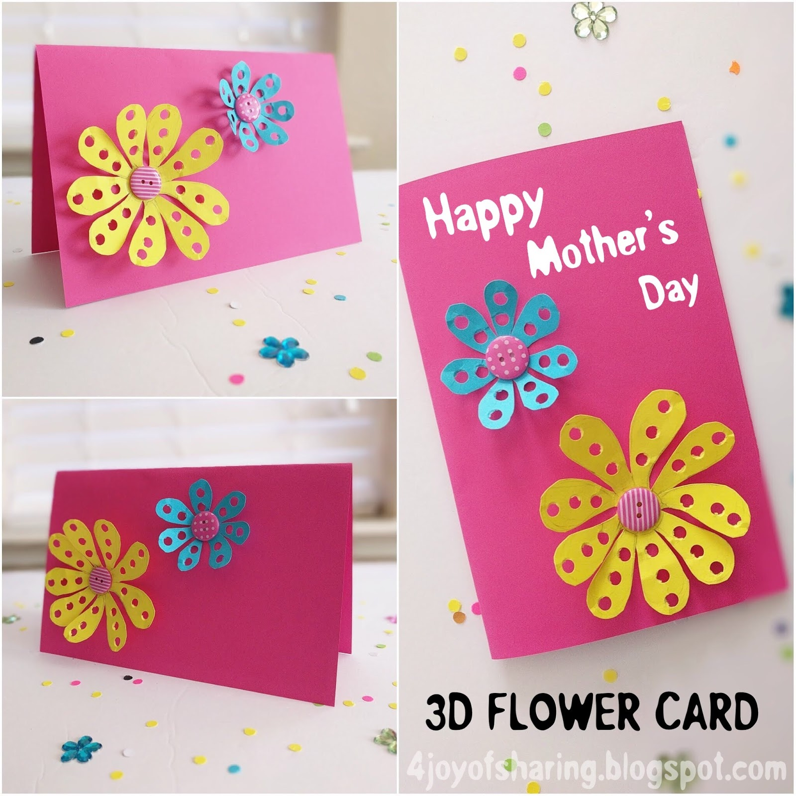 Diy Mother S Day 3d Flower Card The Joy Of Sharing