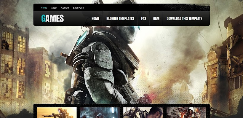 Games Free Blogger Template