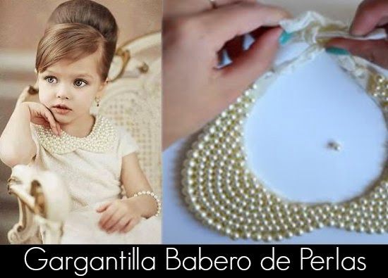 Como hacer una Gargantilla de Perlas Babero