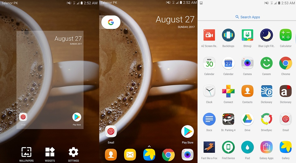 Android 8 Pixel Oreo Launcher User Interface
