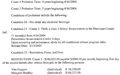 Beizer Court Doc Snippet Re Probation Terms