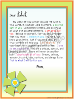 Letter to Student - Flower Version
