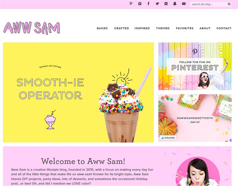 Aww Sam | Super cute blog design inspiring me right now!