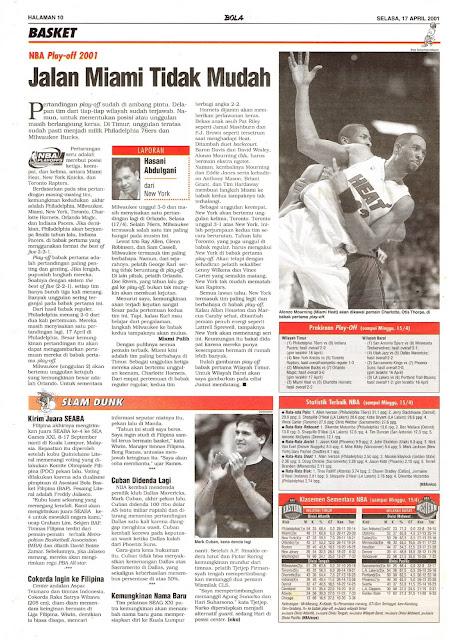 BASKET: NBA PLAY-OFF 2001 JALAN MIAMI TIDAK MUDAH