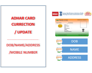 adhar card update Correction