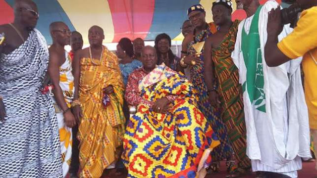 Prez. Mahama honoured as Nkosuohene at Kwahu