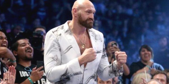Tyson Fury Officially Challenges Drew McIntyre (Video)