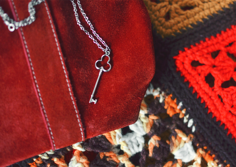 The Flying Clubhouse: Tweed | Celtic Key Necklace