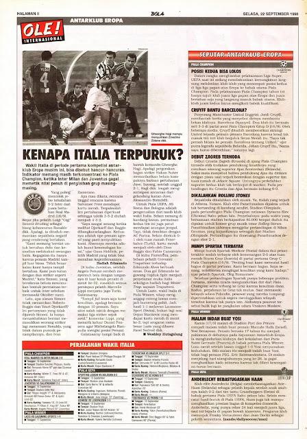 ANTARKLUB EROPA 1998 JUVENTUS ZIDANE ITALIA