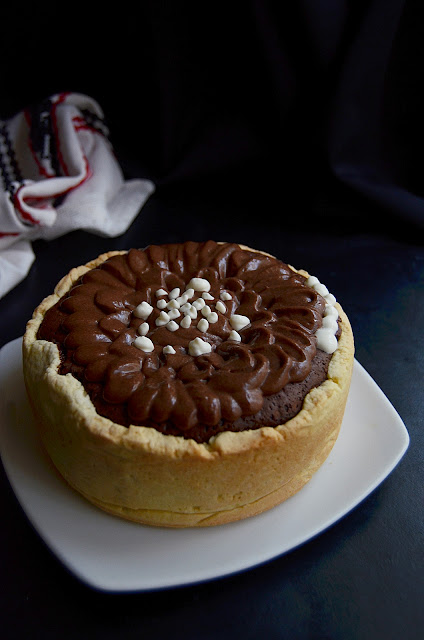 Pasca cu ciocolata (fara gluten si fara branza)