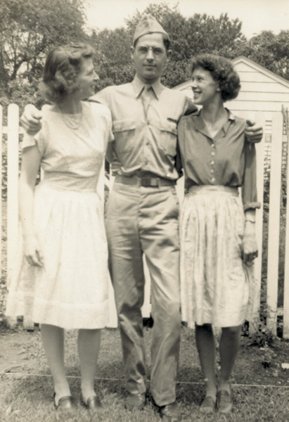 Katharine Wright, Wilbur H. Wright, and wife Priscilla, 1943