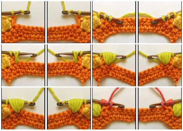 punto crochet, punto palomita, tutoriales, patrones