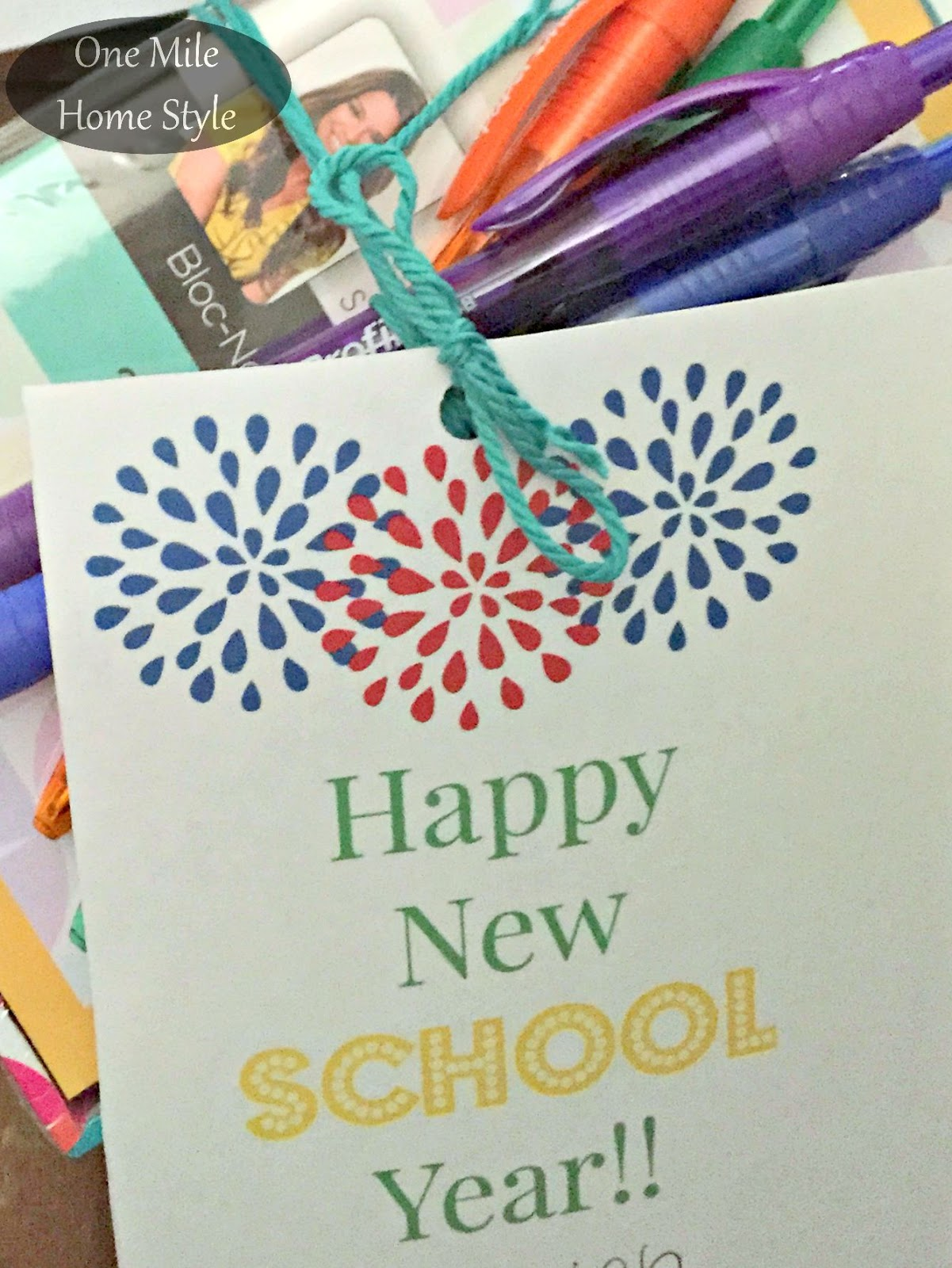 back to school teacher gift free printable