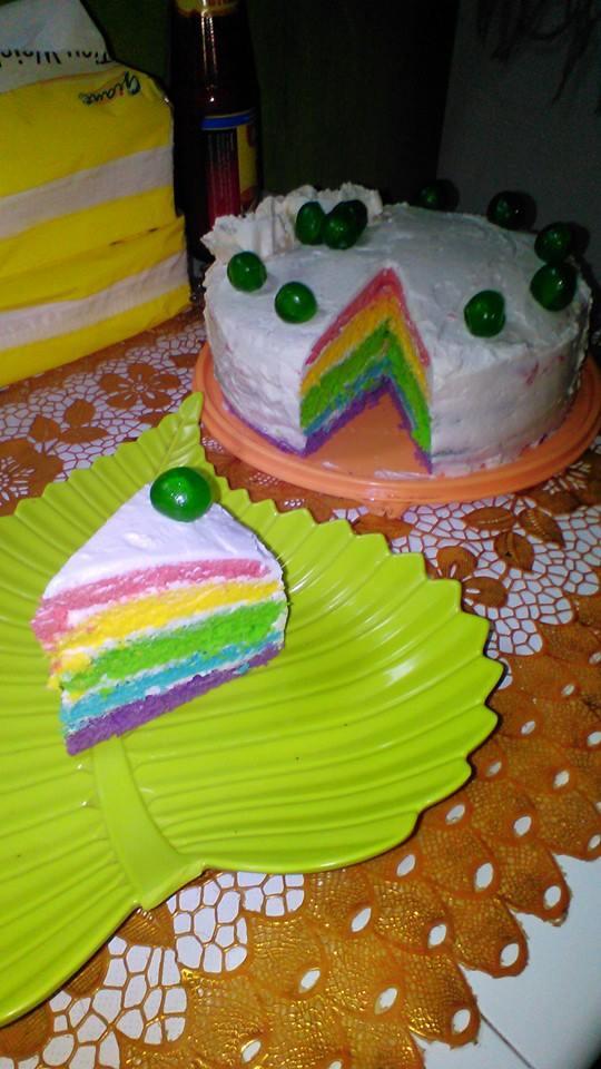 Resep Kue Tart Kukus Mudah : resep, kukus, mudah, Resep, Rainbow, Ulang, Tahun, Cepat, Praktis, Sederhana