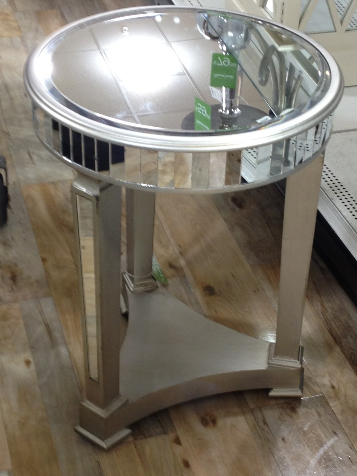 Not So Newlywed Mcgees Mirrored Pedestal Table