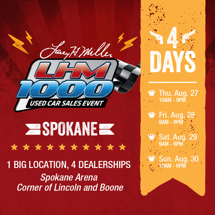 LHM 1000 Used Car Sales Event At The Spokane Arena