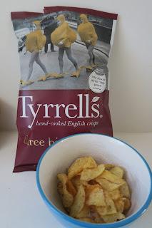 Three bird roast crisps by Tyrells