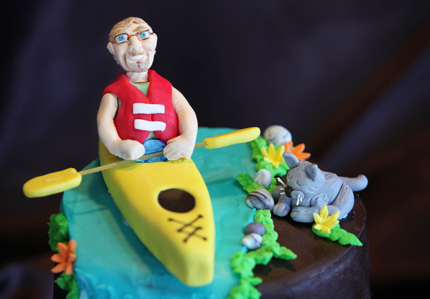A Popeyes Chicken Birthday Cake Really This Could Have: Cakes By Setia: Kayak Cake And Farmer With Chickens Cake