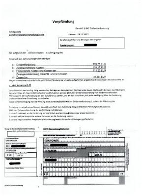 Scan: Forderung GRN Power Inkasso GmbH | Seite 1 | 29.11.2017