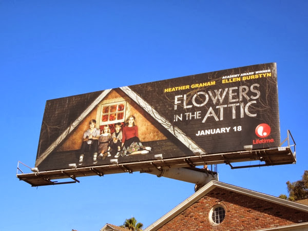 Flowers in the Attic Lifetime remake billboard